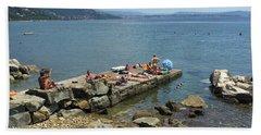 Trieste Miramare Beach Beach Towel