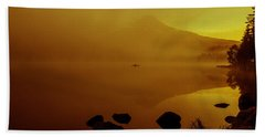 Trillium Lake Sunrise Beach Towel