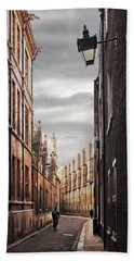 Beach Towel featuring the photograph Trinity Lane Cambridge by Gill Billington