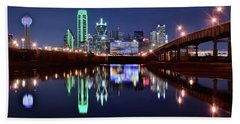 Trinity River And Pond Beach Sheet by Frozen in Time Fine Art Photography