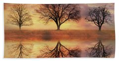 Trio Of Trees Beach Towel by Lori Deiter