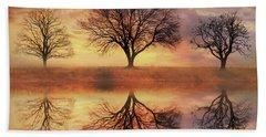 Trio Of Trees Beach Sheet by Lori Deiter