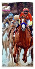 Triple Crown Winner Justify 2 Beach Towel