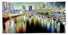 Tripping Across The South Street Bridge Beach Towel