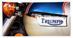 Triumph Motorcyle Beach Towel by Andy Crawford