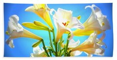 Triumphant  Easter Lilies Beach Towel