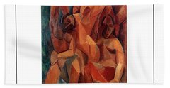 Trois Femmes Three Women  Beach Sheet by Pablo Picasso