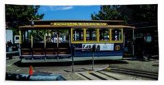Trolley Car Turn Around Beach Towel
