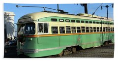 Beach Sheet featuring the photograph Trolley Number 1058 by Steven Spak