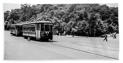 Beach Towel featuring the photograph Trolley With Cloisters by Cole Thompson