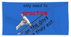 Trombones Practice When They Eat Beach Towel