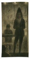 Trombonist  Beach Towel by Georges-Pierre Seurat