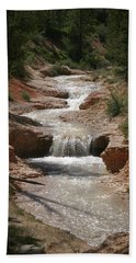 Beach Towel featuring the photograph Tropic Creek by Marie Leslie