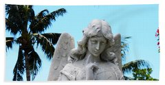 Tropical Angel With Tear Beach Towel