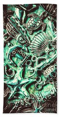 Tropical Bay Elements Beach Towel