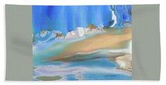 Tropical Beach Abstract Beach Sheet by Lenore Senior