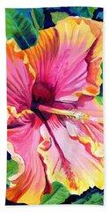 Tropical Bliss Hibiscus Beach Towel