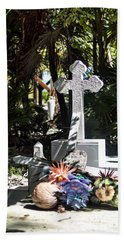 Tropical Cemetery Beach Sheet by Lawrence Burry