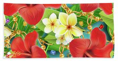 Tropical Color Party Beach Towel
