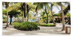 Tropical Courtyard Beach Sheet