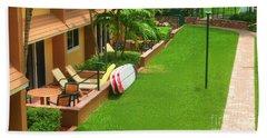 Tropical Courtyard Beach Towel