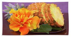 Beach Towel featuring the photograph Tropical Delight Still Life by Ben and Raisa Gertsberg