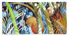 Beach Towel featuring the painting Tropical Design 2 by Rae Andrews