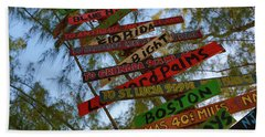 Tropical Directions Beach Towel