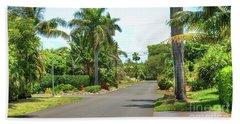 Tropical Feel Residential Street Beach Towel