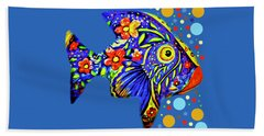Beach Towel featuring the digital art  Tropical Fish by Eleni Mac Synodinos