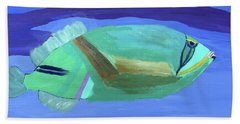 Beach Sheet featuring the painting Tropical Fish by Karen Nicholson