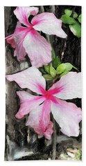 Tropical Flowers #1 Beach Towel