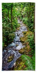 Beach Towel featuring the photograph Tropical Forest Stream by Christopher Holmes