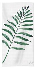 Tropical Greenery - Palm Tree Leaf Beach Towel