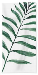 Tropical Greenery - Palm Tree Leaf Beach Towel