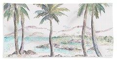 Beach Towel featuring the digital art Tropical Island by Elizabeth Lock