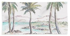 Beach Sheet featuring the digital art Tropical Island by Elizabeth Lock