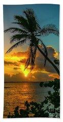 Tropical Lagoon Sunrise Beach Towel