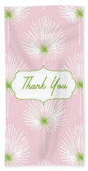 Tropical Leaf Thank You- Art By Linda Woods Beach Towel