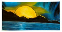Tropical Moonshine Beach Towel by Jenny Lee