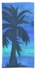 Tropical Night Beach Sheet