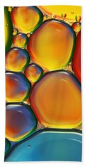 Tropical Oil And Water II Beach Towel by Sharon Johnstone