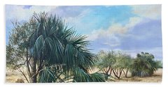 Tropical Orange Grove Beach Towel