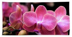 Tropical Orchids Beach Towel