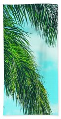 Tropical Palms Maui Hawaii Beach Towel by Sharon Mau