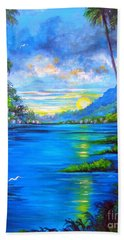 Beach Towel featuring the painting Blue by Patrice Torrillo