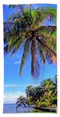 Beach Sheet featuring the photograph Tropical Palms by Sue Melvin