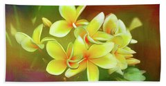 Beach Towel featuring the photograph Tropical Plumeria Art By Kaye Menner by Kaye Menner