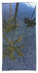 Tropical Reflections 2 Delray Beach Florida  Beach Towel