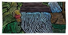Beach Towel featuring the digital art Tropical River by Kevin McLaughlin